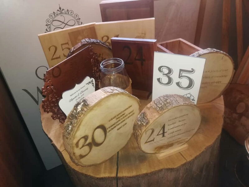 Wooden and Acrylic Table Numbers